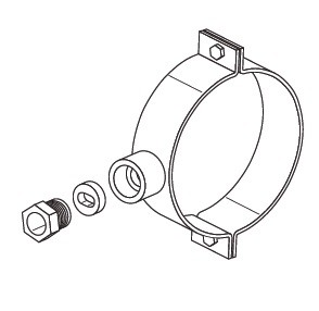 Хомут для ввода кабеля в трубу d=150 мм ТС.12.002