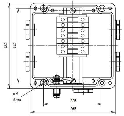 Коробка соединительная УСК 16.БН