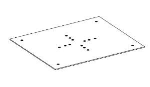 Пластина для крепления коробки Авох ТС.09 Ц