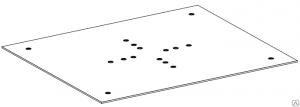 Пластина для крепления коробки ПЛ.РТВ 1007