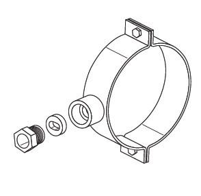 Хомут для ввода кабеля в трубу d=100 мм ТС.12.001
